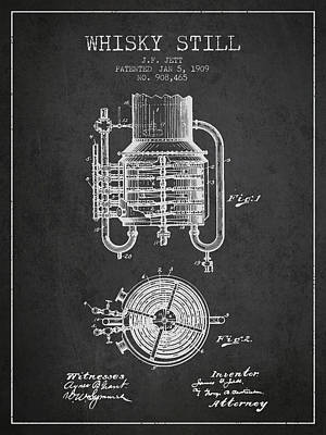1909 Whisky Still Patent Fb78_cg Poster by Aged Pixel