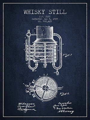 1909 Whisky Still Patent Fb78_nb Poster by Aged Pixel