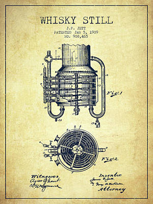 1909 Whisky Still Patent Fb78_vn Poster