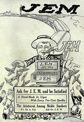 1911 Jem Cigar Advertisement Poster by Jon Neidert