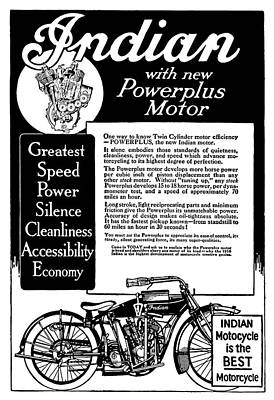 Poster featuring the digital art 1913 Indian Motorcycle Is The Best by Daniel Hagerman