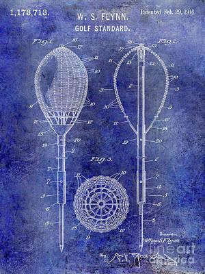 1916 Golf Standard Patent Blue Poster by Jon Neidert