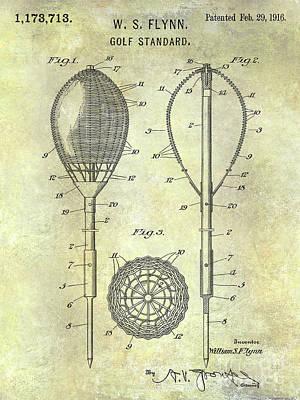 1916 Golf Standard Patent Poster by Jon Neidert