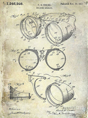 1917 Welders Goggles Patent  Poster