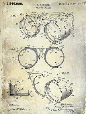1917 Welders Goggles Patent  Poster by Jon Neidert