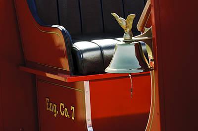 1919 Volunteer Fire Truck Eng. Co. 7 Poster by Jill Reger