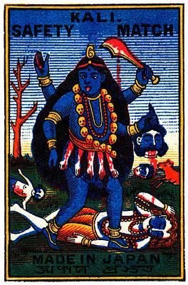 1920 Hindu Goddess Kali Poster by Historic Image