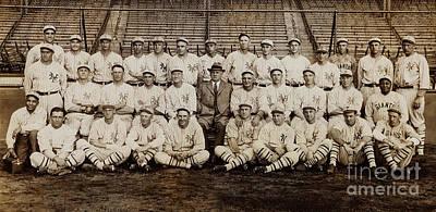 1920 New York Giants Team Poster by Jon Neidert