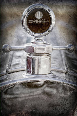 Poster featuring the photograph 1920 Pierce-arrow Model 48 Coupe Hood Ornament -2829ac by Jill Reger