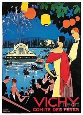 1920s Vichy France High Society Travel Advert Poster