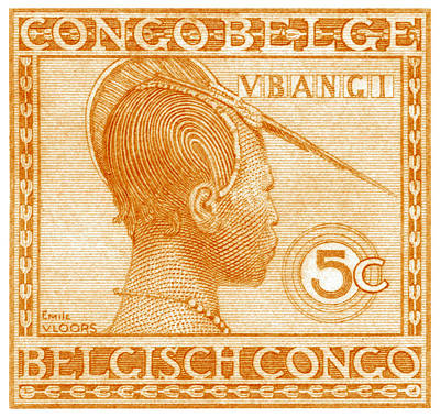 Poster featuring the painting 1923 Belgian Congo Ubangi Woman by Historic Image