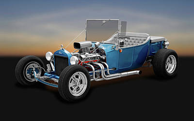 1923 Ford T-bucket Roadster   -   1923fordtbucketroadster170297 Poster by Frank J Benz