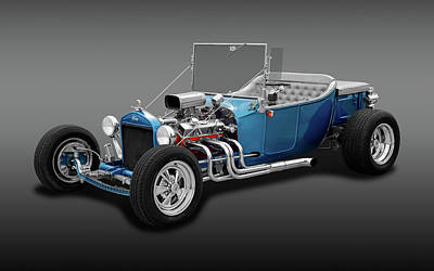 1923 Ford T-bucket Roadster  - 23fdtbucketrdstrfa170297 Poster by Frank J Benz