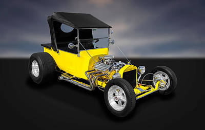 1923 Ford T-bucket Street Rod  -  Fdtb11 Poster by Frank J Benz