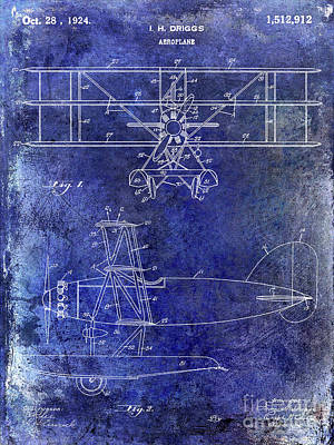 1924 Airplane Patent Poster