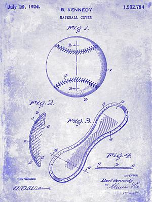 1924 Baseball Patent Blueprint  Poster