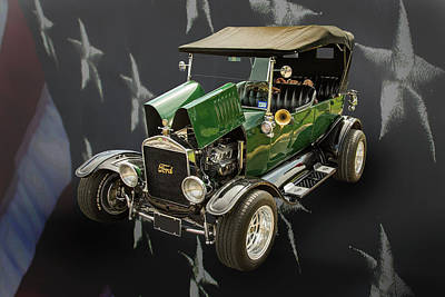 1924 Ford Model T Touring Hot Rod 5509.001 Poster by M K  Miller
