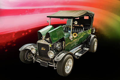 1924 Ford Model T Touring Hot Rod 5509.004 Poster by M K  Miller