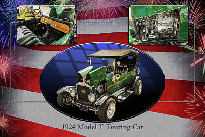 1924 Ford Model T Touring Hot Rod 5509.005 Poster by M K  Miller