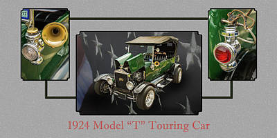 1924 Ford Model T Touring Hot Rod 5509.006 Poster by M K  Miller
