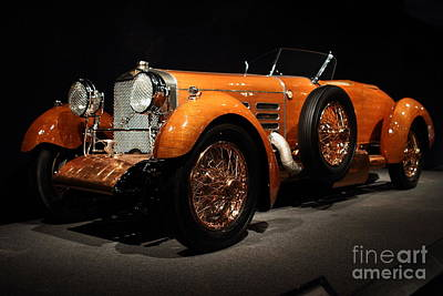 1924 Hispano Suiza Dubonnet Tulipwood . Front Angle Poster by Wingsdomain Art and Photography