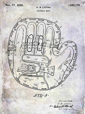 1925 Baseball Glove Patent Poster