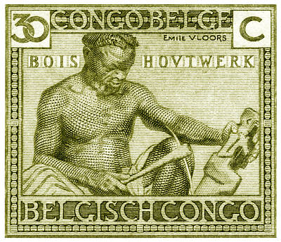 Poster featuring the painting 1925 Belgian Congo Native Woodcarving by Historic Image