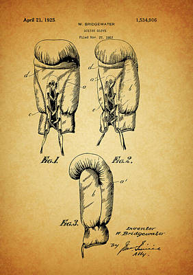 1925 Boxing Glove Patent Poster