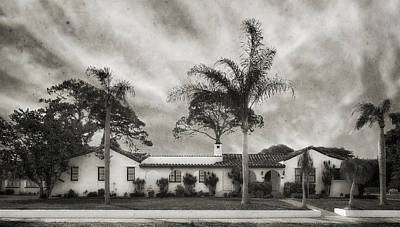1926 Florida Venetian Style Home - 24 Poster by Frank J Benz