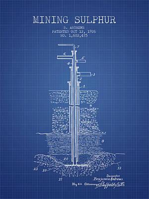 1926 Mining Sulphur Patent En37_bp Poster by Aged Pixel