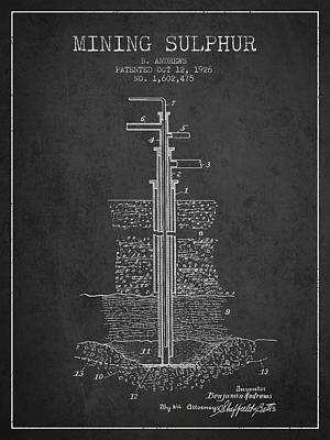 1926 Mining Sulphur Patent En37_cg Poster by Aged Pixel