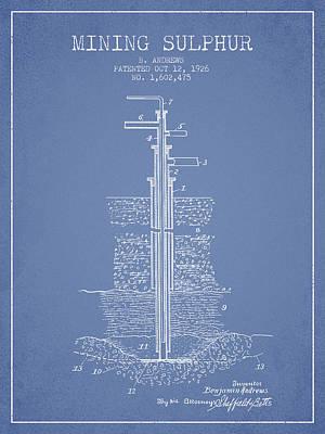 1926 Mining Sulphur Patent En37_lb Poster by Aged Pixel