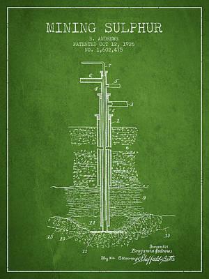 1926 Mining Sulphur Patent En37_pg Poster by Aged Pixel