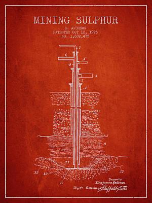 1926 Mining Sulphur Patent En37_vr Poster by Aged Pixel