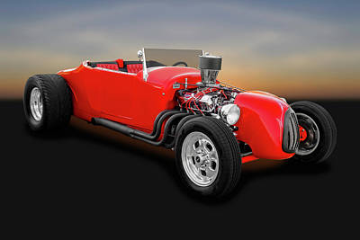 1927 Ford Roadster  -  1927fordroadster0057 Poster by Frank J Benz