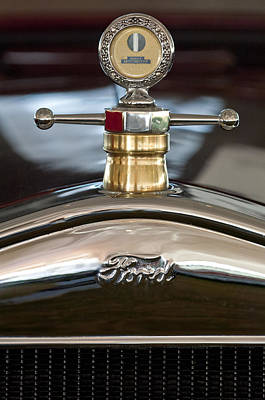 1927 Ford T Roadster Hood Ornament Poster by Jill Reger