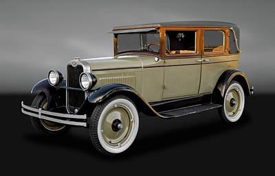 1928 Chevrolet National Imperial Landau Sedan  -  1928chevcobw042 Poster