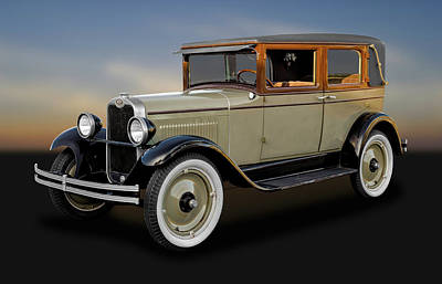 1928 Chevrolet National Imperial Landau Sedan  -  1928chevsed042 Poster