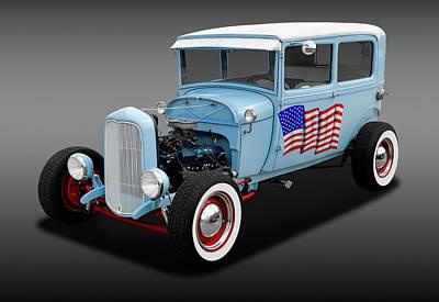 1928 Ford Model A Tudor Sedan  -  1928fordsedfa170289 Poster