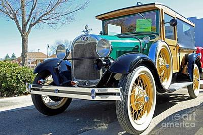 1928 Ford Model A Woodie Front Poster by Blaine Nelson