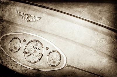 1929 Ford Model A Roadster Dashboard Emblem -0048s Poster