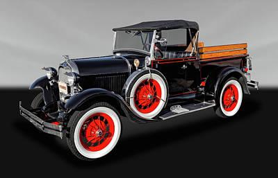 1929 Ford Model A Roadster Pickup  -  29fdmdardgray063 Poster by Frank J Benz
