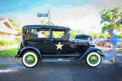 Poster featuring the photograph 1929 Ford Model A Tudor Police Sedan  by Rich Franco