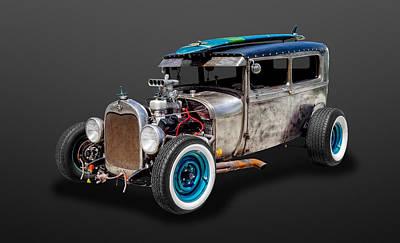 1929 Ford Tudor Sedan Rat Rod   -   29fdtudor87 Poster