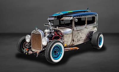 1929 Ford Tudor Sedan Rat Rod  -  29fdtudorrr97 Poster