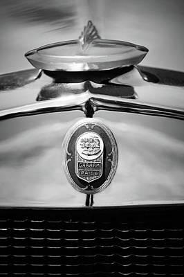 1929 Graham-paige Sport Roadster Emblem -0810bw Poster by Jill Reger