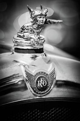 1929 Reo Flying Cloud Master Sport Roadster Hood Ornament - Emblem -0826bw Poster by Jill Reger