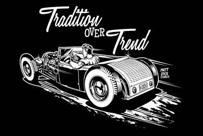 1929 Roadster Design Poster