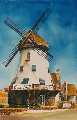 193 Bevo Mill Poster by Marilynne Bradley