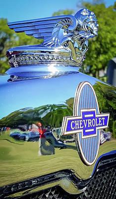 1930 Chevrolet Ad Hood Ornament Poster